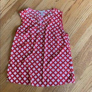 Banana Republic geometric pattern blouse